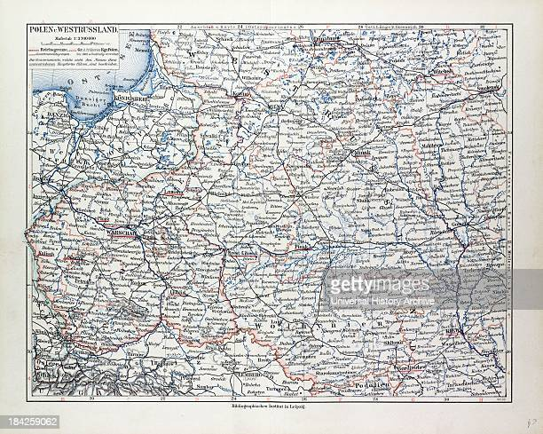 Map Of Poland Belarus And Ukraine 1899