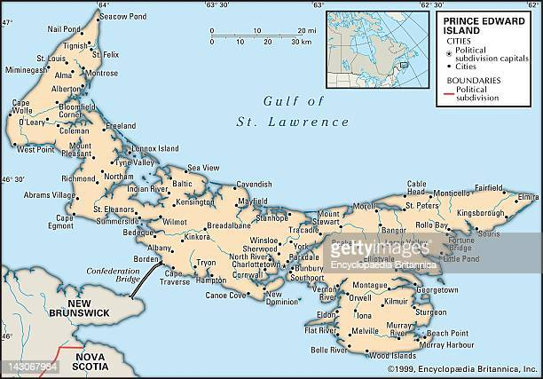 Map Of Prince Edward Island Political Map Of Prince Edward Island Canada
