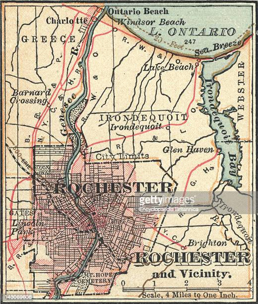 Map Of Rochester Map Of Rochester New York Circa 1900 From The 10Th Edition Of Encyclopaedia Britannica