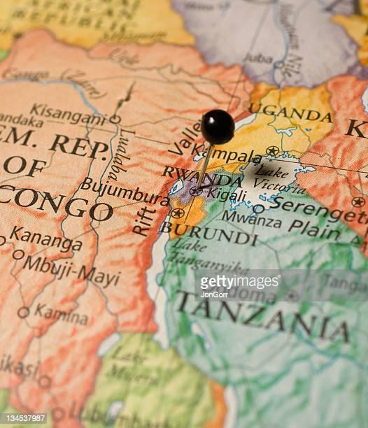 Map Of Rwanda,Tanzania,and Congo