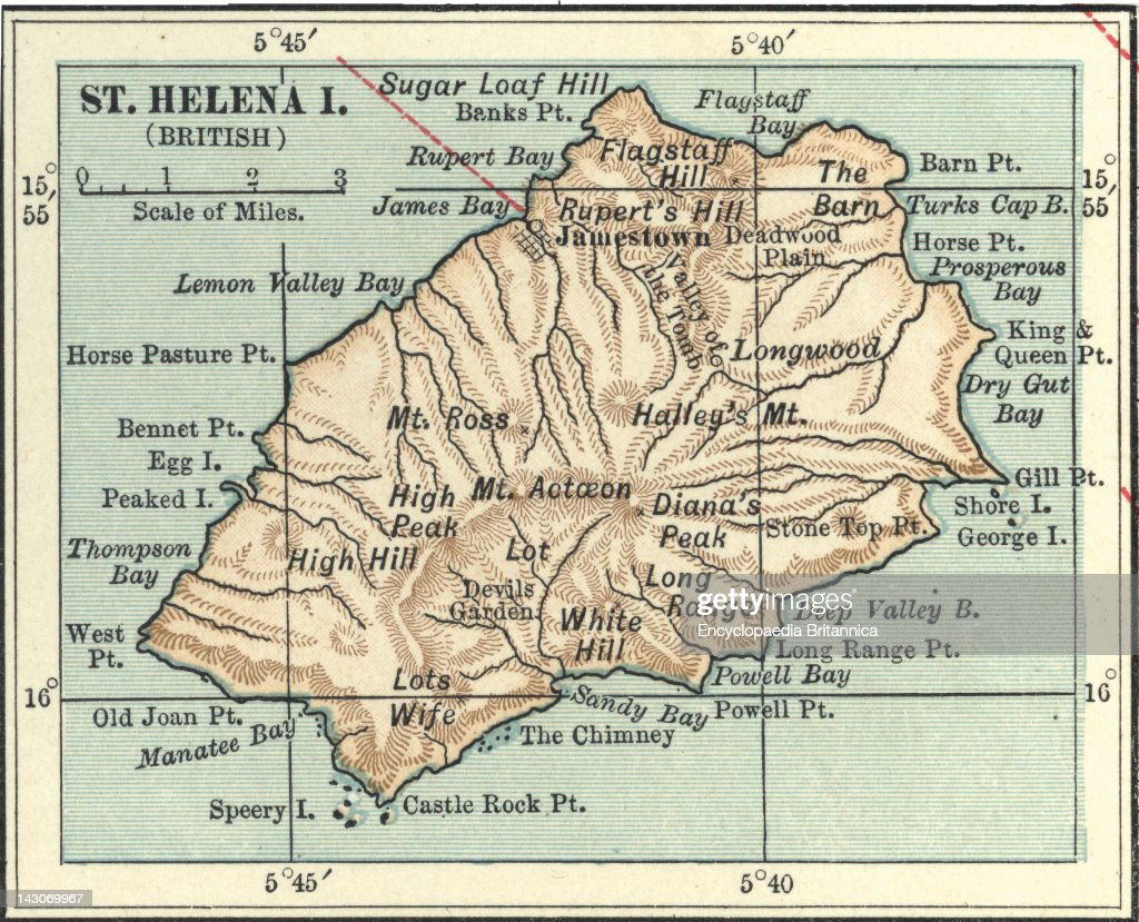 Map Of Saint Helena Island Pictures Getty Images
