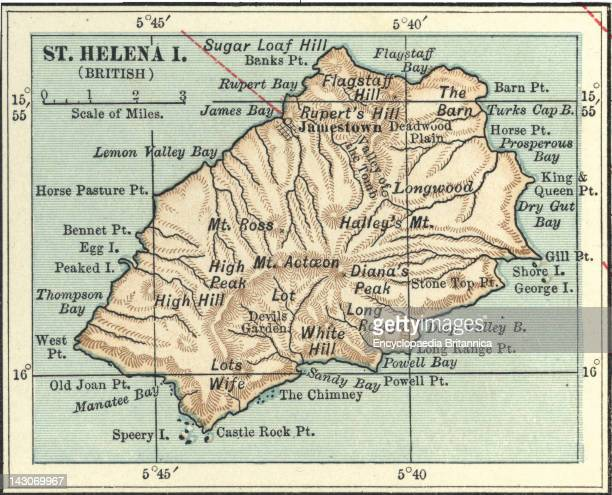 Map Of Saint Helena Island Map Of Saint Helena Island Circa 1902 From The 10Th Edition Of Encyclopaedia Britannica
