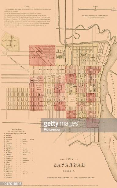 Map of SavannahÑ1865 Colton GW