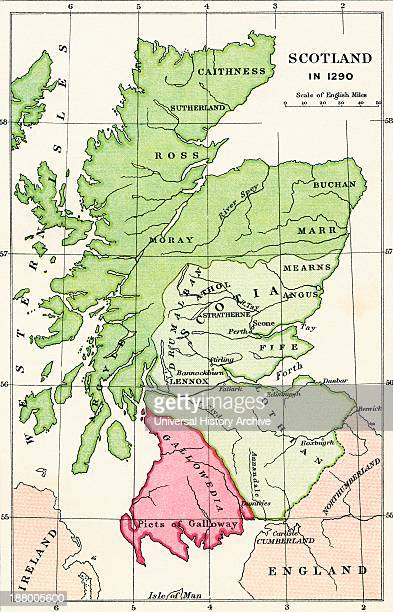 Map Of Scotland In 1290 From The Book Short History Of The English People By JR Green Published London 1893