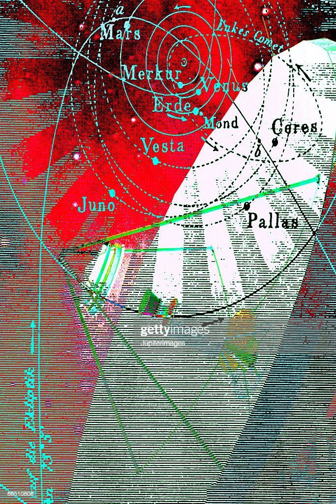 Map Of Solar System With Satellite Dish Stock Photo - Getty ... Satellite Dish Map on dish sports, geographical map, dish mexico, cable map, dish movies, verizon map, dish food,