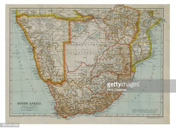 Map of South Africa' circa 1910 [Encyclopedia Britannica Co] Artist Gull Engraving Company