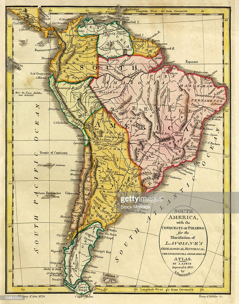 Map Of America 1820.A Map Of South America 1820 News Photo Getty Images