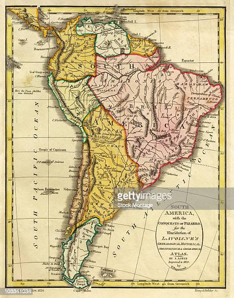 A map of South America 1820