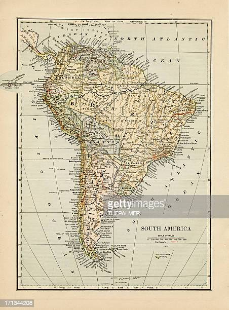 map of south america 1875