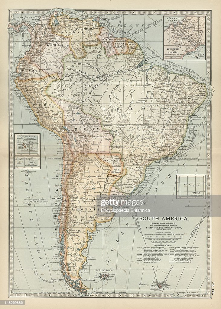 Map Of South America Pictures | Getty Images