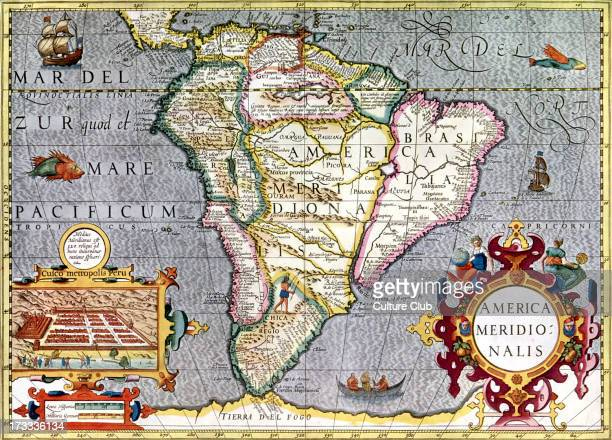 Map of South America published in Mercator's Atlas Amsterdam 1633