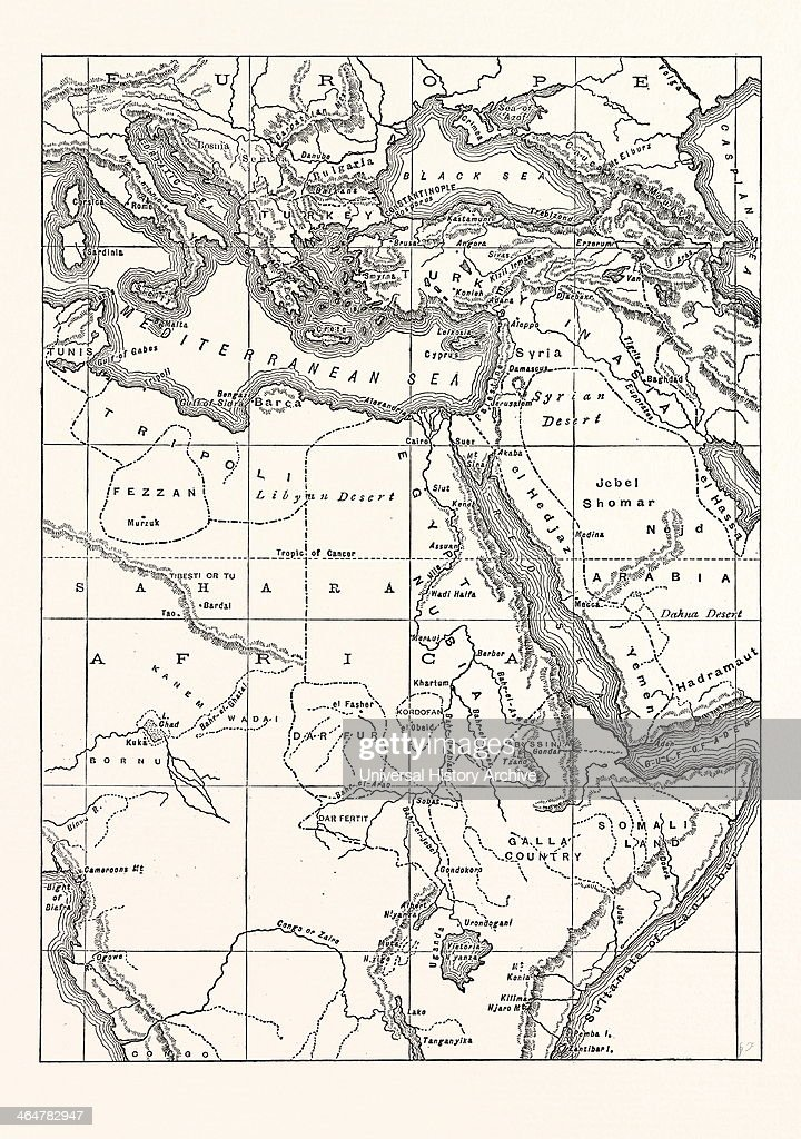 Map Of South Eastern Europe, Western Asia, And Northern And Central ...