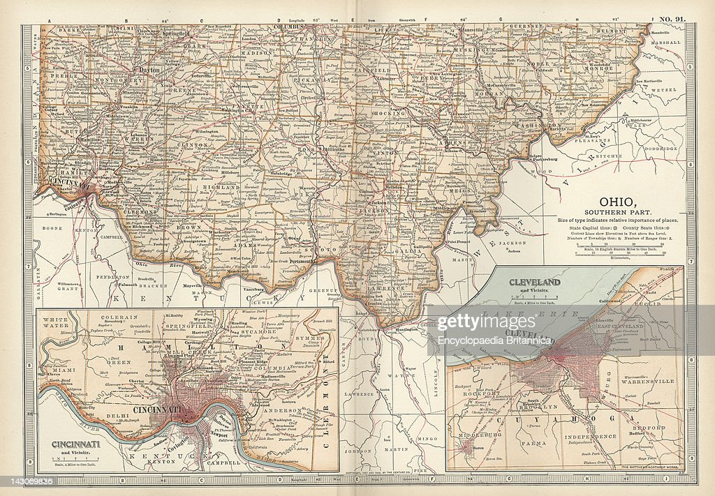 Map Of Southern Ohio Pictures Getty Images