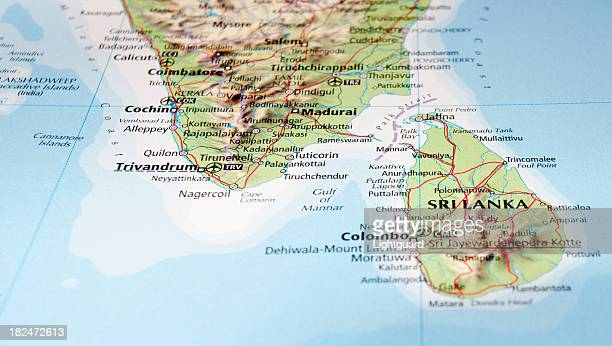 map of sri lanka - tamil nadu stock pictures, royalty-free photos & images