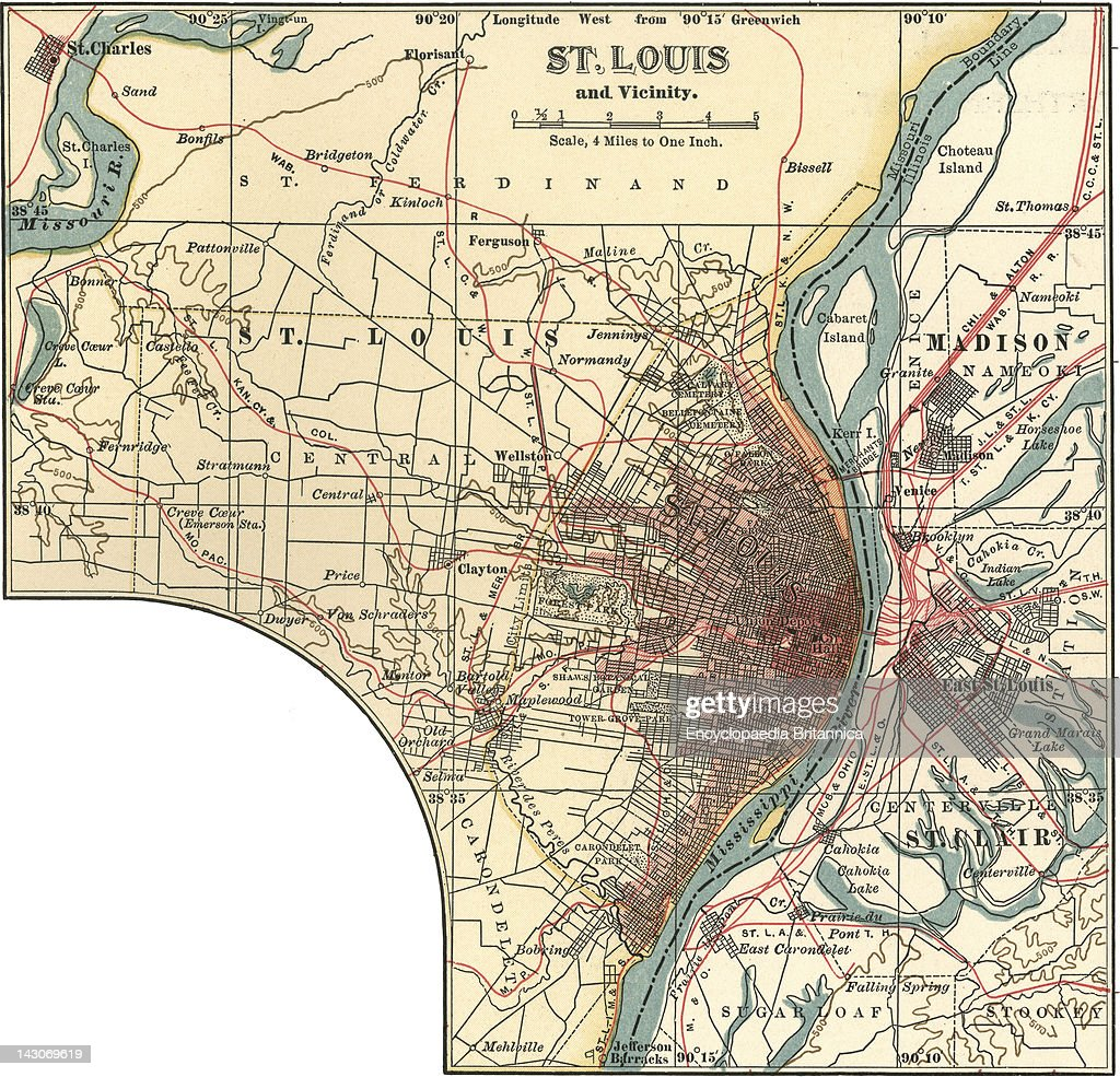 Map Of St. Louis Pictures   Getty Images