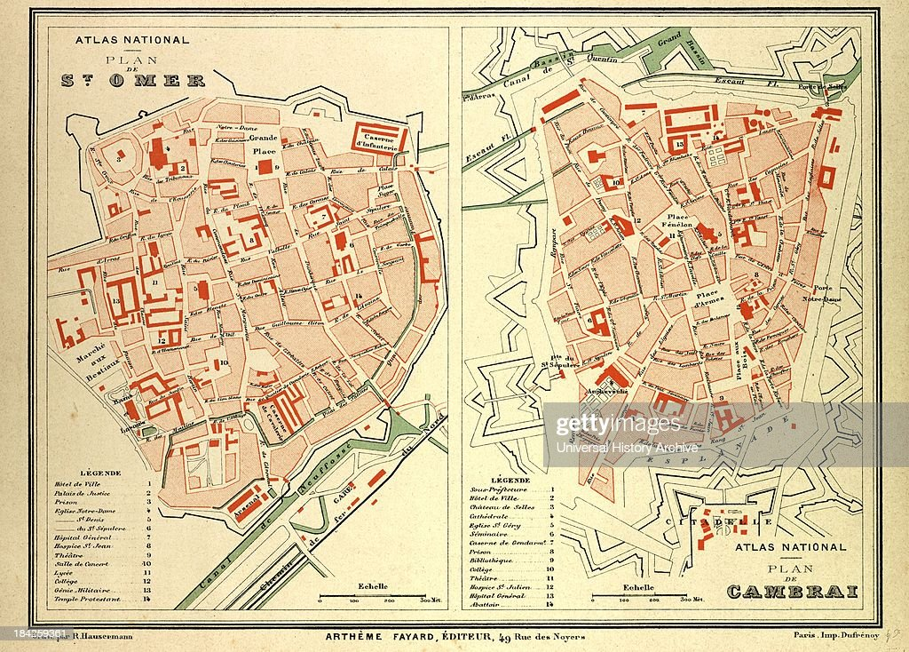 Map Of St Omer And Cambrai France Pictures Getty Images - Rue france map