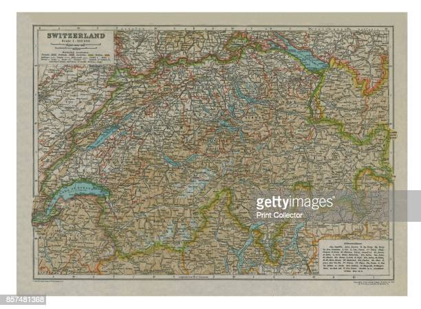 Map of SwitzerlandCirca 1910 [Encyclopaedia Britannica Co] Artist Unknown