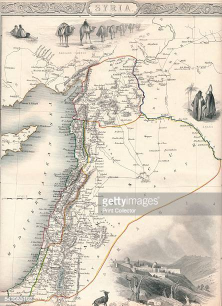 Map of Syria 1851 From The Illustrated Atlas And Modern History Of The World Geographical Political Commercial Statistical edited by R Montgomery...