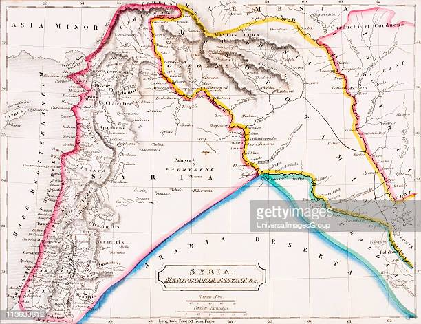Map of Syria Mesopotamia Assyria From The Atlas of Ancient Geography by Samuel Butler published London circa 1829