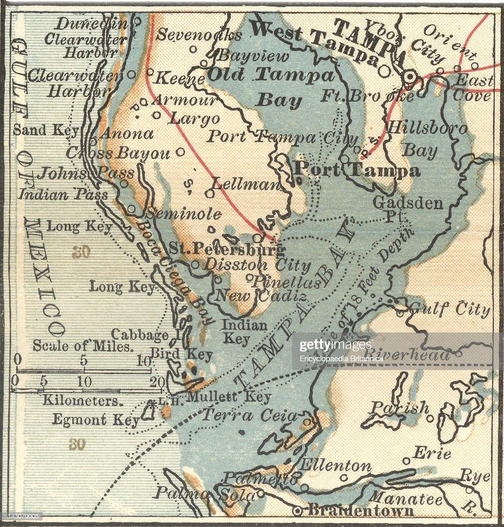 Map Of Tampa Florida Map Of Tampa And St Petersburg Florida
