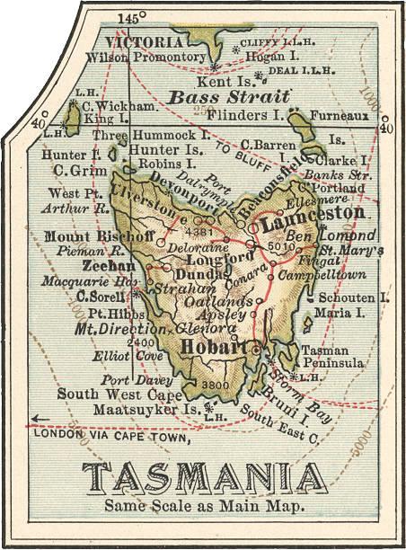 map of tasmania australia