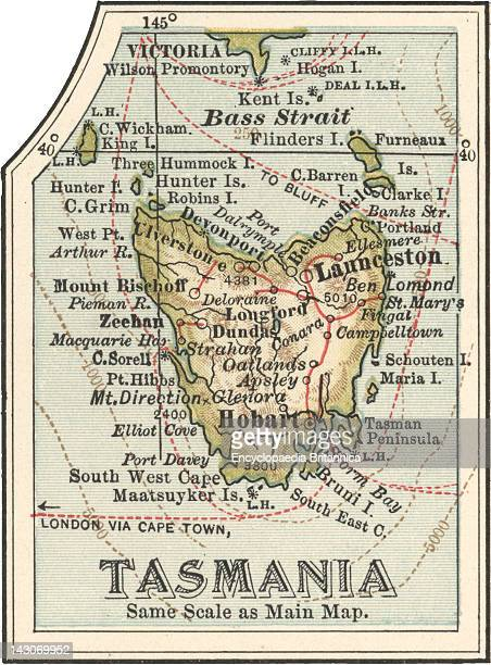 Map Of Tasmania Australia Map Of Tasmania Australia Circa 1902 From The 10Th Edition Of Encyclopaedia Britannica