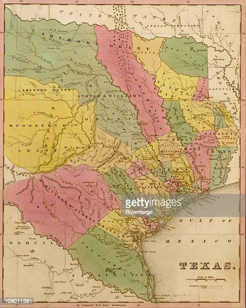 A map of Texas 1844
