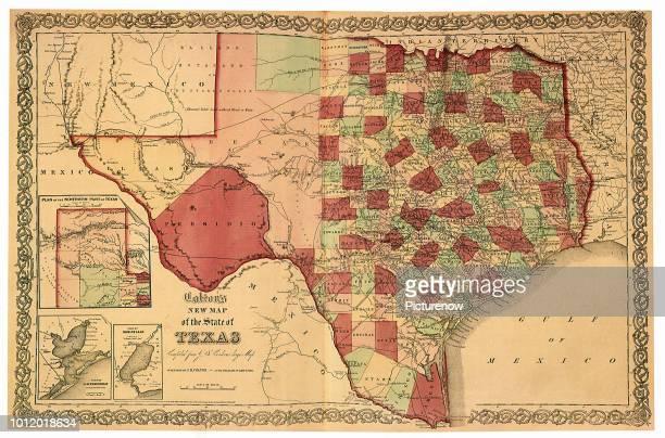 Map of Texas 1863 Colton GW