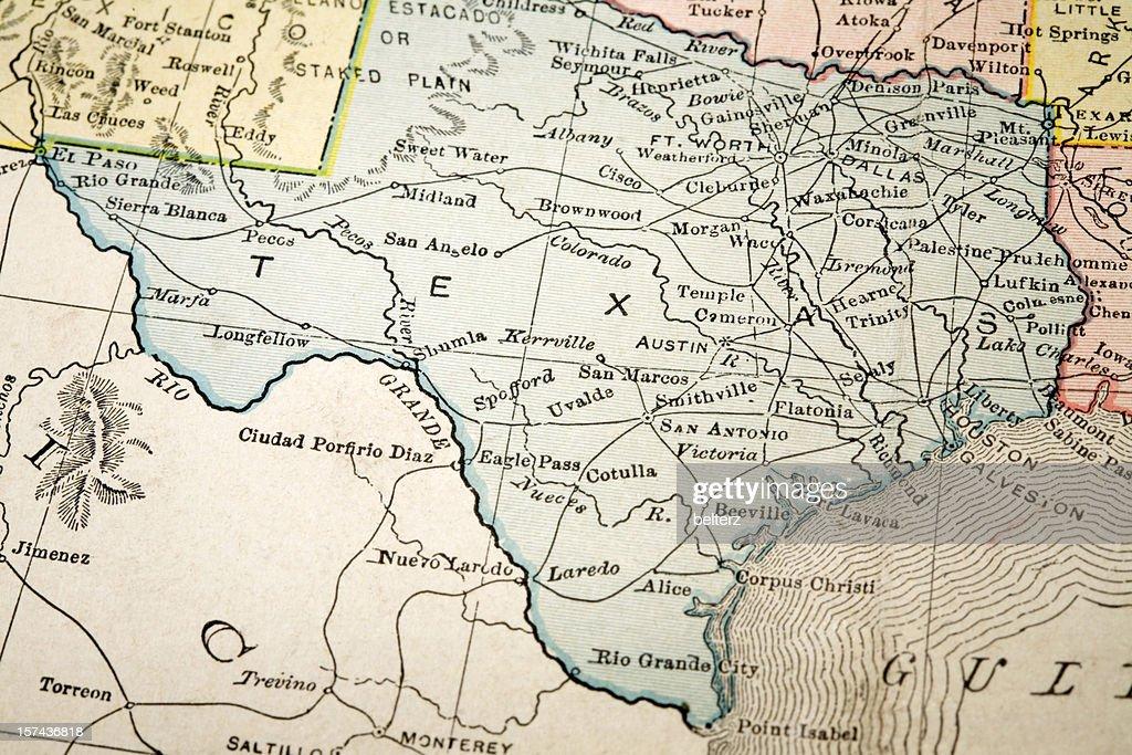 map of Texas : Stock Photo