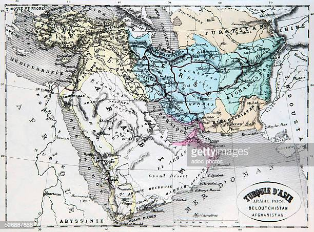 Map of the Asian territories of the Ottoman Empire Ca 1870