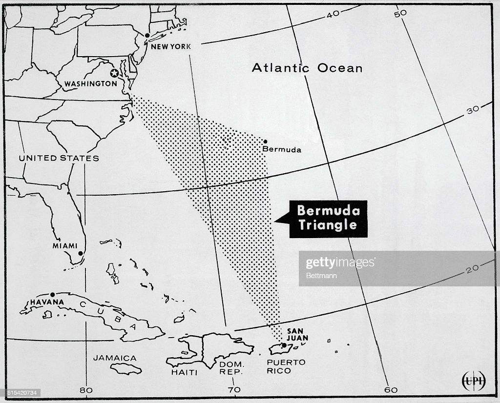 Map Of Bermuda Triangle Pictures Getty Images - Bermuda in relation to us map