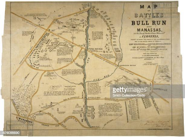 Map of the Battles of Bull Run Near Manassas Virginia 1861 Image courtesy National Archives