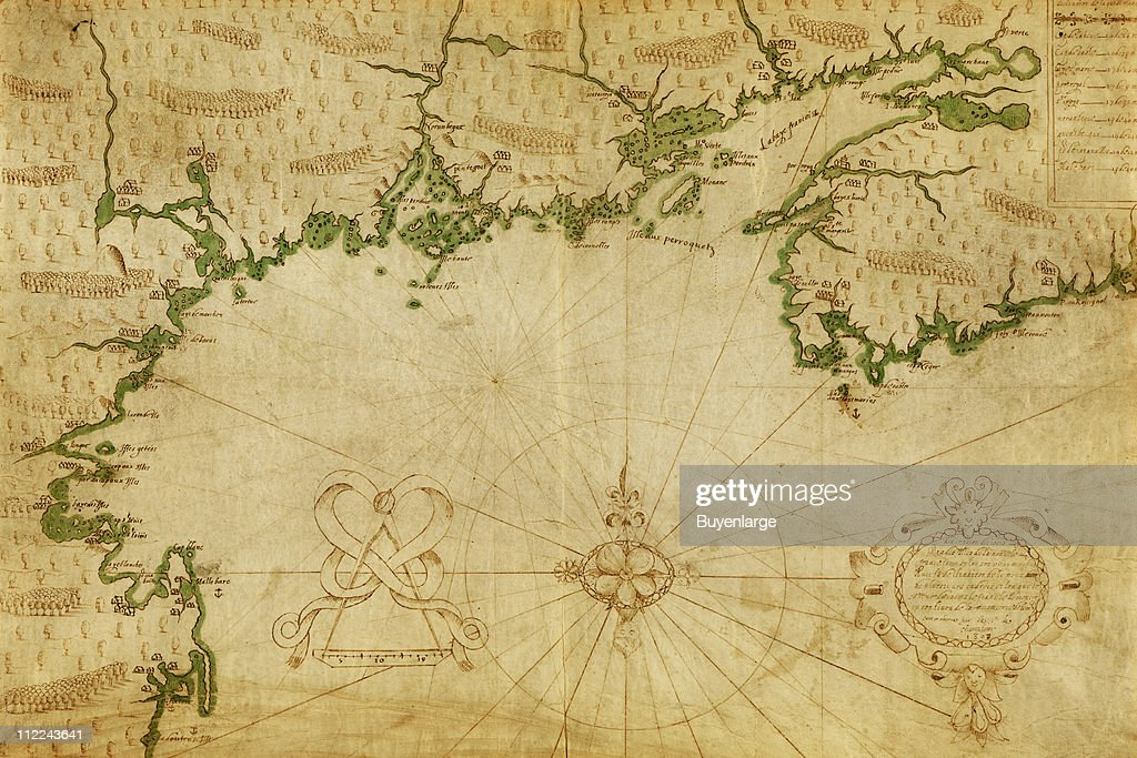 Champlains Map Of The Bay Of Fundy Pictures Getty Images