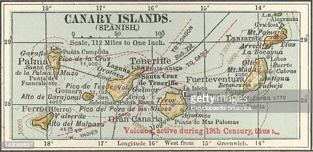 Map Of The Canary Islands Map Of Canary Islands Circa 1902 From The 10Th Edition Of Encyclopaedia Britannica