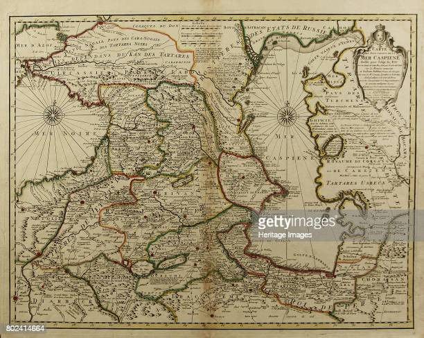 Map of the Caucasus and the Caspian Sea circa 1800 Private Collection