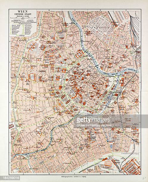 Map Of The Centre Of Vienna Austria 1899