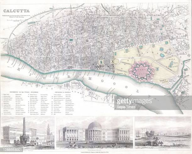 Map of the City of Calcutta, India.