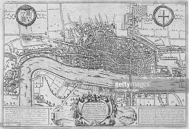 Map of the City of London and City of Westminster in c1600 1708