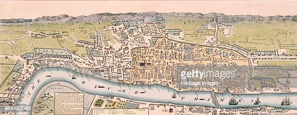 Map of the City of London and the City of Westminster c1563