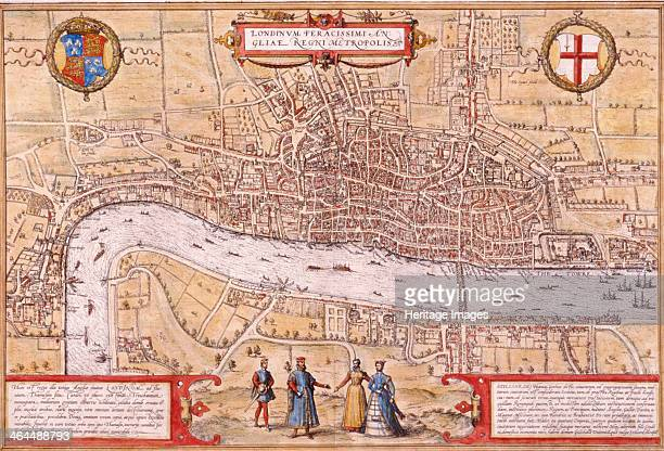 Map of the City of London Southwark and part of Westminster 1572