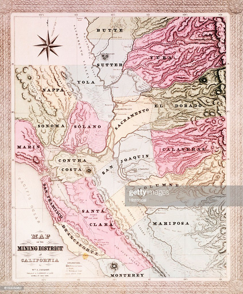 A map of the counties of California around the San Francisco ...