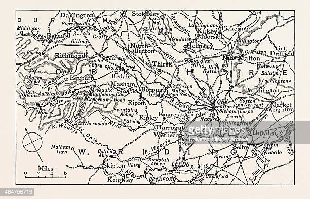 Map Of The Course Of The Ouse UK The River Ouseis A River In North Yorkshire England