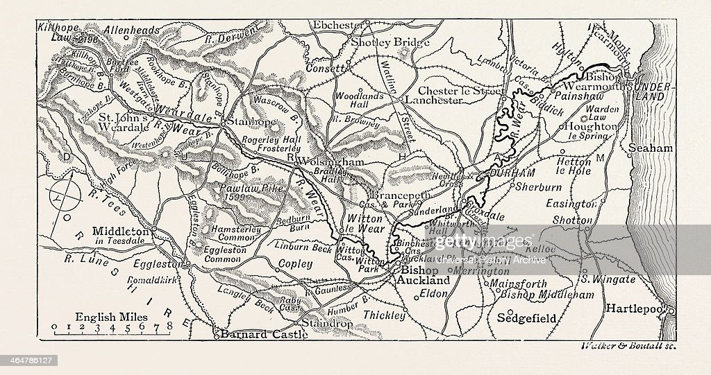 Map Of The Course Of The Wear Pictures Getty Images