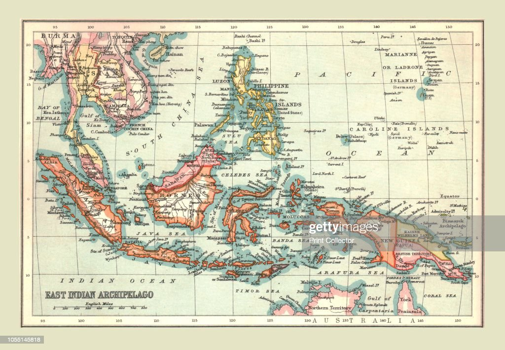 Map Of The East Indian Archipelago : News Photo