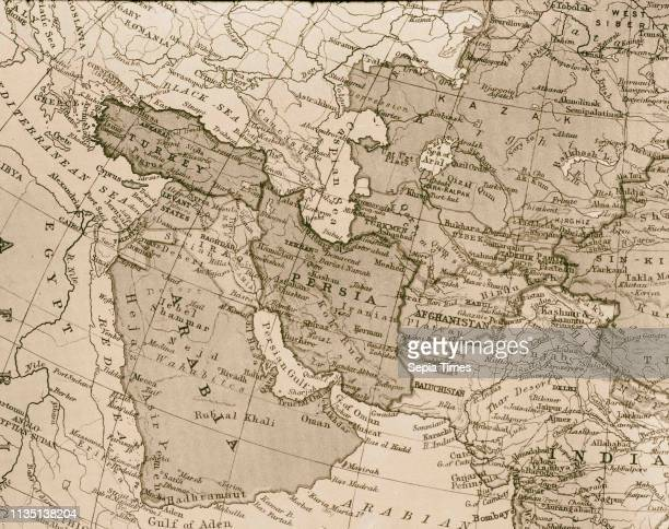 Map of the east. Mediterranean to India, Gulf of Aden & Arabian Sea. 1934, Middle East