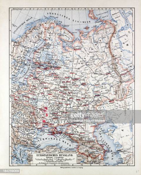 Map Of The European Part Of Russia, 1899 News Photo | Getty Images