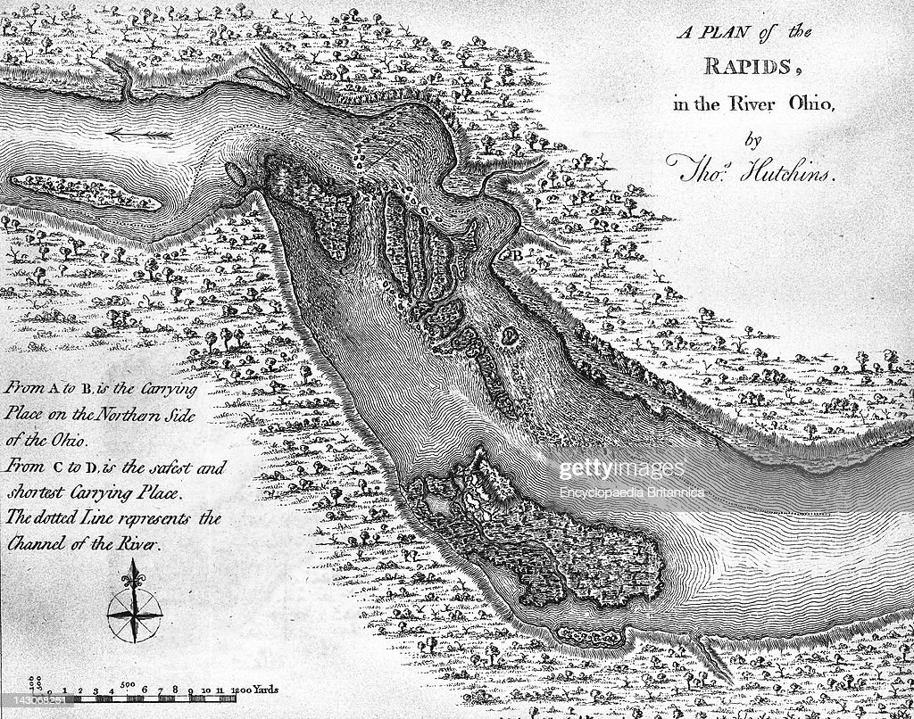 Falls Of The Ohio Map.Map Of The Falls Of The Ohio River Pictures Getty Images
