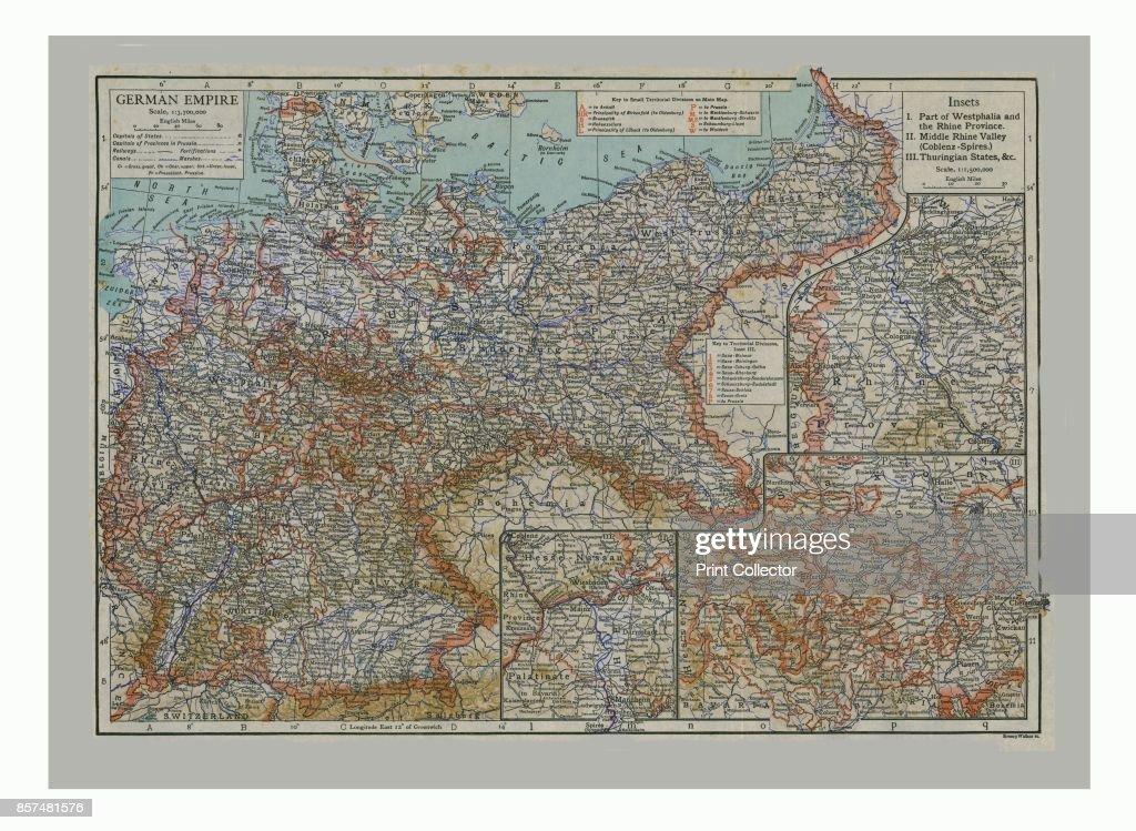 Map Of Germany Circa 1900.Map Of The German Empire Circa 1900 Artist Emery Walker Ltd Emery
