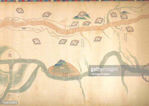 Map of the Grand Canal from Beijing to the Yangzi River late 18th or early 19th century Qing dynasty Artist Unknown
