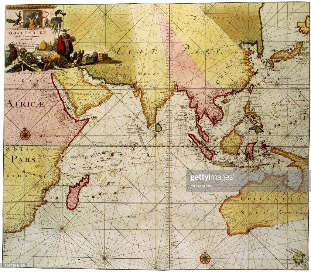 Map Of Australia 1700.Map Of The Indian Ocean 1700 Van Kelven News Photo Getty Images
